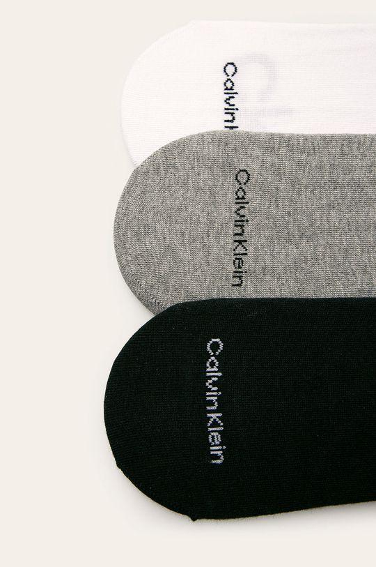 Calvin Klein - Kotníkové ponožky (3-pack) šedá