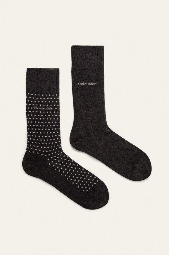 šedá Calvin Klein - Ponožky (2-pack) Pánský