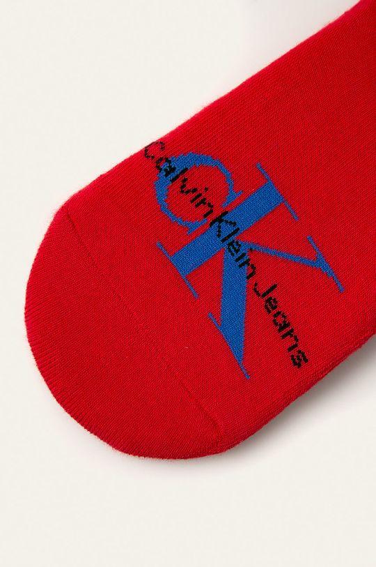 Calvin Klein - Kotníkové ponožky červená