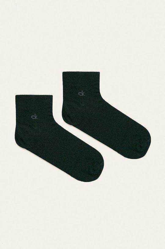 námořnická modř Calvin Klein - Kotníkové ponožky (2-pack) Pánský
