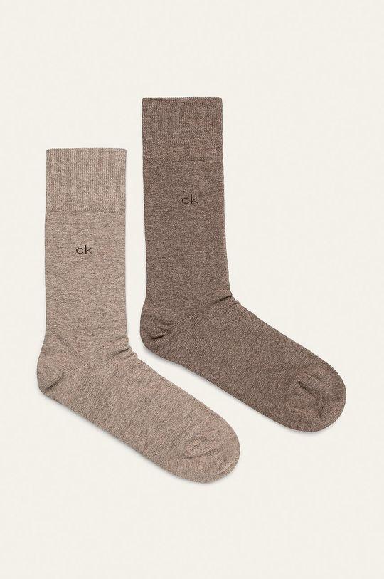 béžová Calvin Klein - Ponožky (2-pak) Pánsky