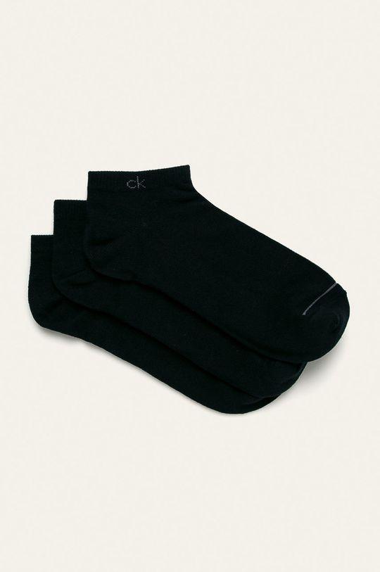 tmavomodrá Calvin Klein - Členkové ponožky (3-pak) Pánsky