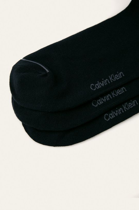 Calvin Klein - Členkové ponožky (3-pak) tmavomodrá