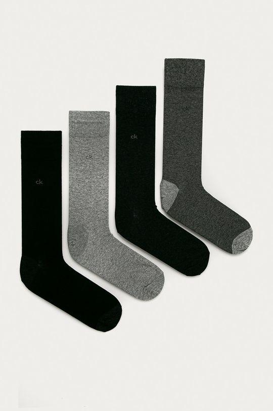 szary Calvin Klein - Skarpetki (4-pack) Męski