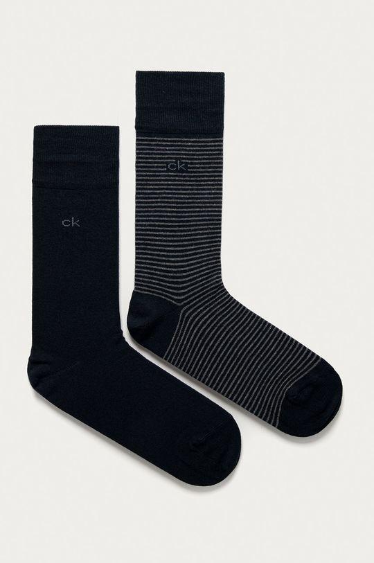 námořnická modř Calvin Klein - Ponožky (2-pack) Pánský