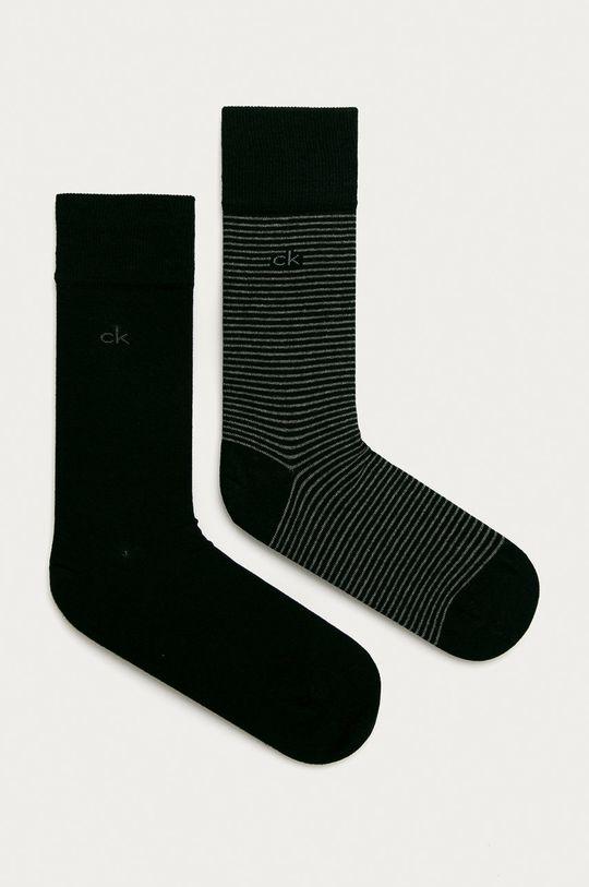 czarny Calvin Klein - Skarpetki (2-pack) Męski