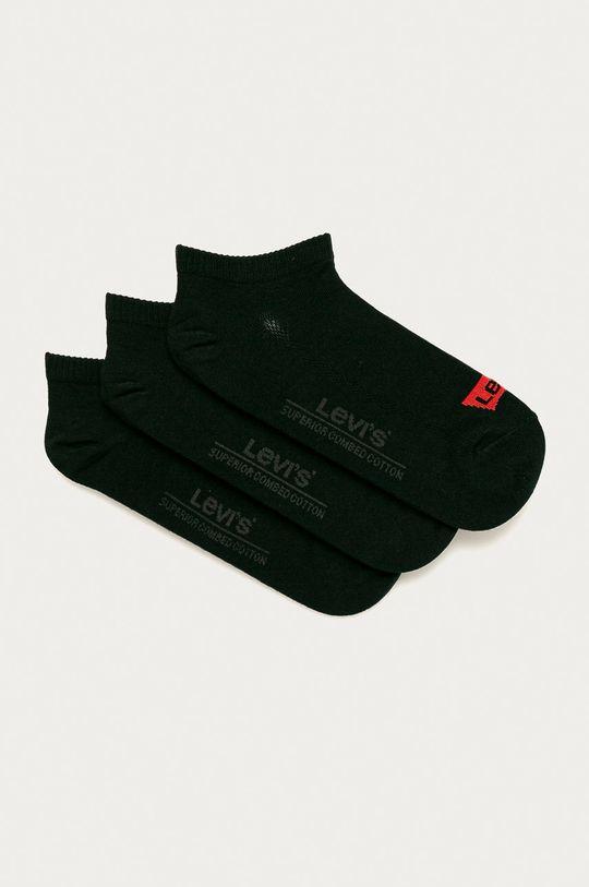 negru Levi's - Sosete scurte (3-pack) De bărbați