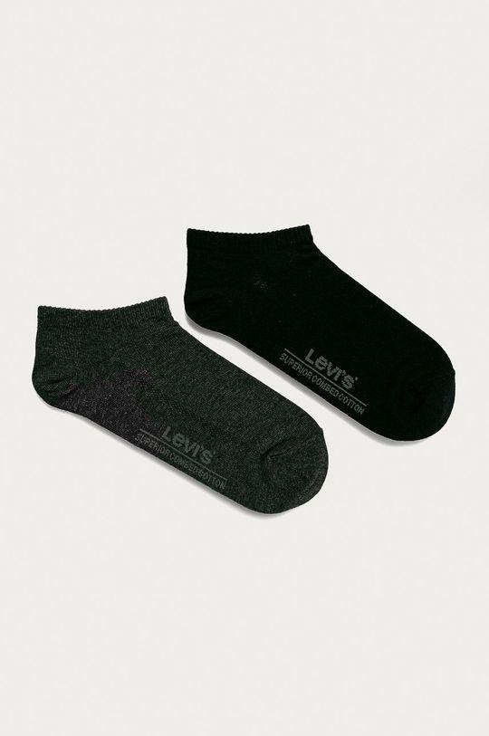 grafitová Levi's - Členkové ponožky (2-pak) Pánsky
