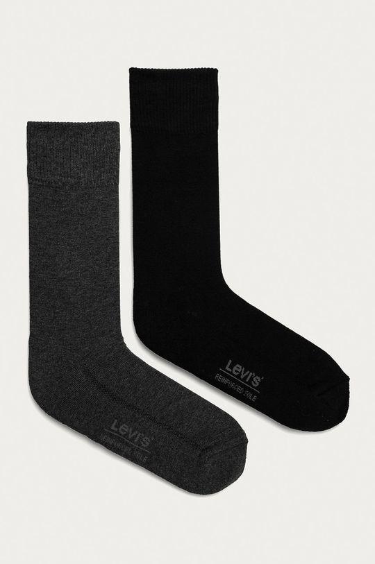 grafitová Levi's - Ponožky (2-pak) Pánsky