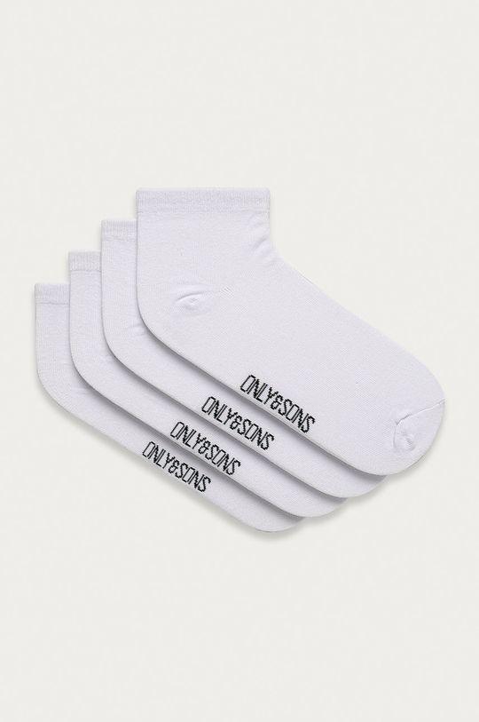 biela Only & Sons - Ponožky (4-pak) Pánsky
