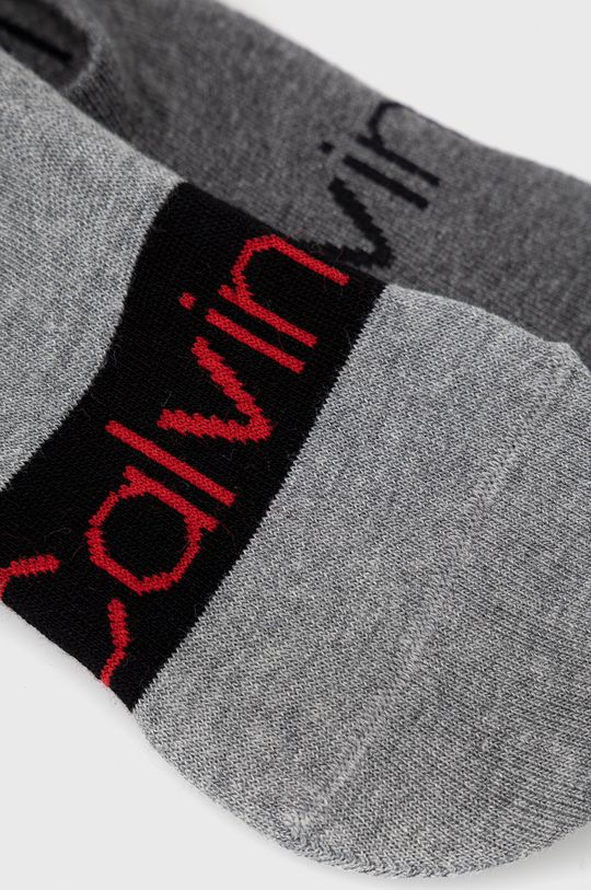 Calvin Klein - Sosete (2-pack) gri