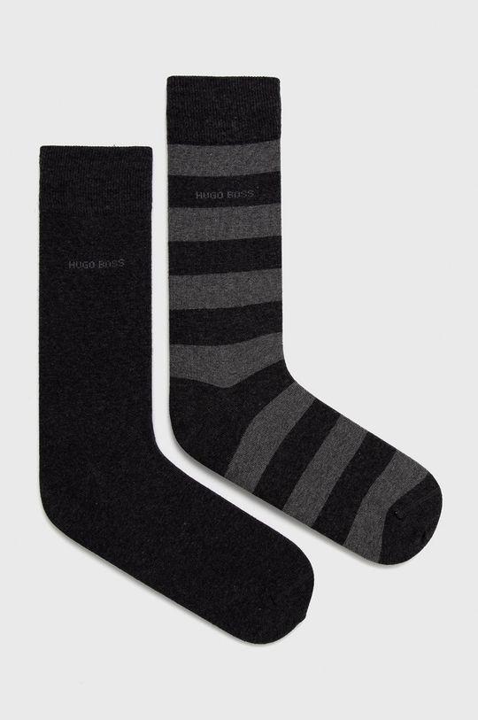 grafitová Boss - Ponožky (2-pack) Pánský