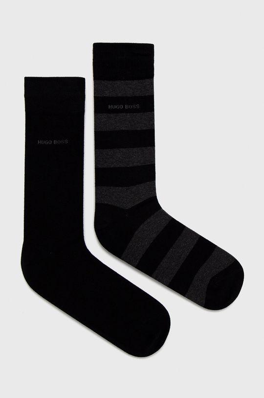černá Boss - Ponožky (2-pack) Pánský