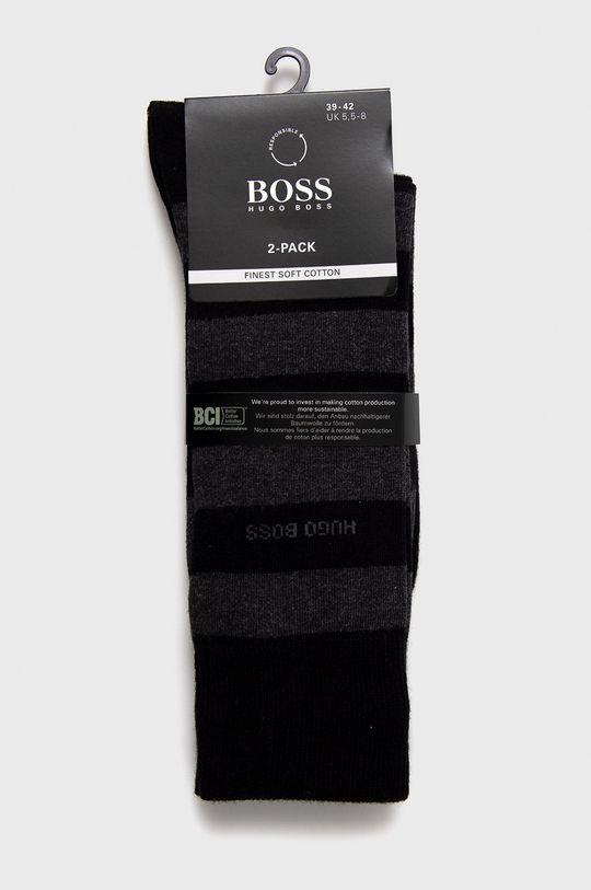Boss - Ponožky (2-pack) černá