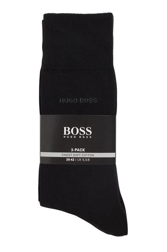 čierna Boss - Ponožky (3-pak)