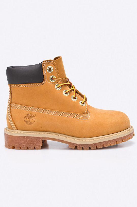žlutá Timberland - Dětské boty 6 In Premium WP Boot Chlapecký