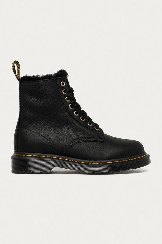 černá Dr. Martens - Kožené kotníkové boty 1460 Pascal Fl Dámský