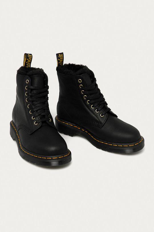 Dr. Martens - Kožené kotníkové boty 1460 Pascal Fl černá