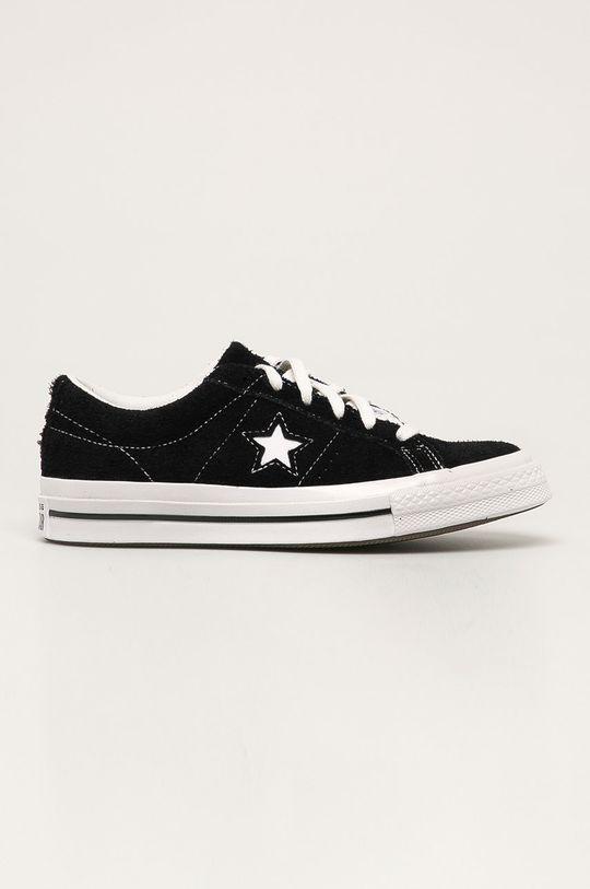černá Converse - Kožené tenisky Dámský