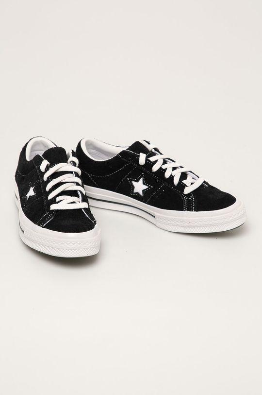 Converse - Kožené tenisky černá