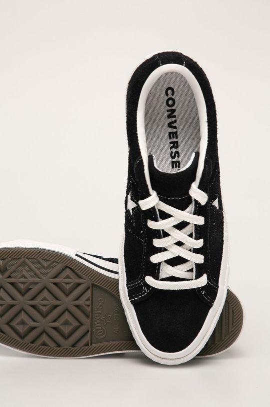černá Converse - Kožené tenisky