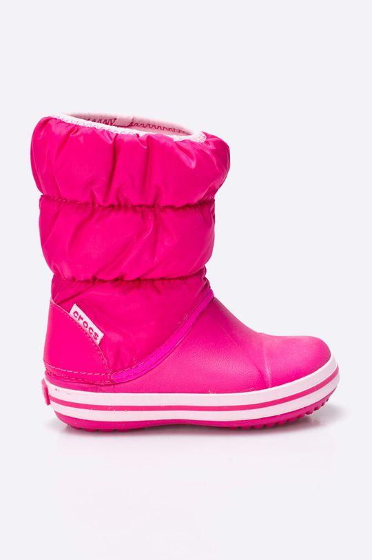 fuchsiová Crocs - Zimní boty dětské Dívčí