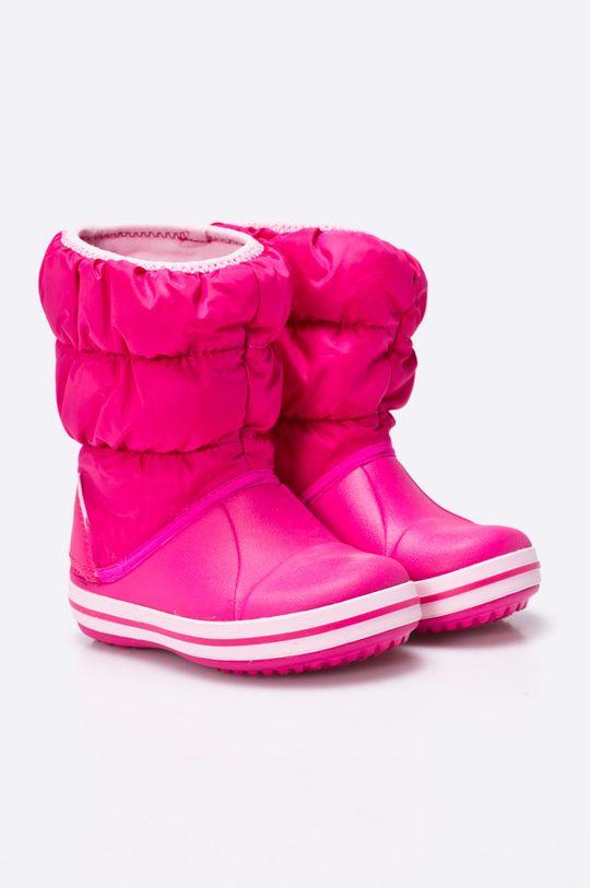 Crocs - Zimní boty dětské fuchsiová