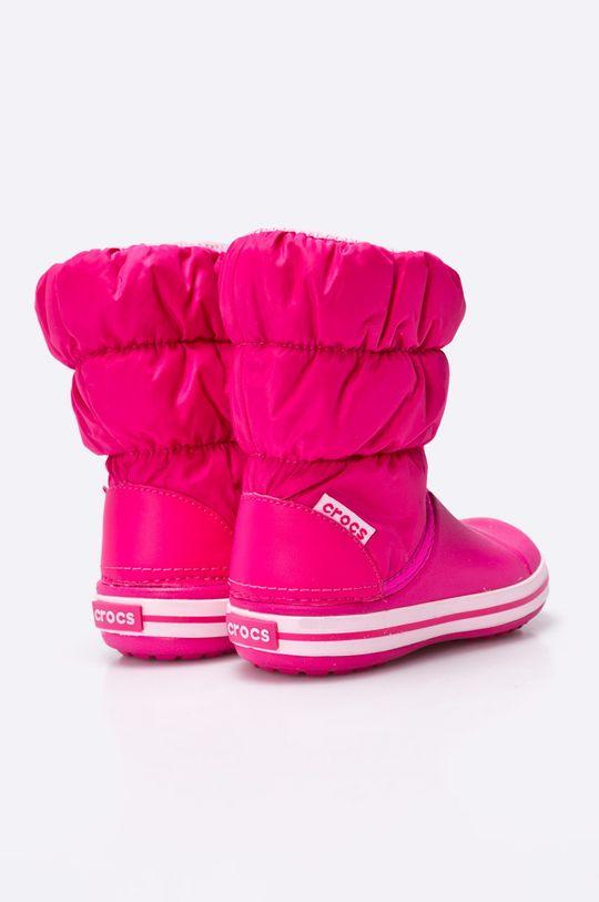 fuchsiová Crocs - Zimní boty dětské