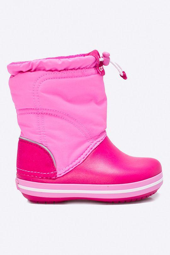 яскраво-рожевий Crocs - Дитячі зимові черевики Для дівчаток