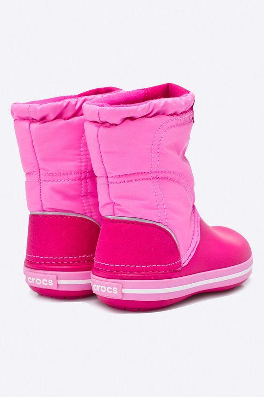 яскраво-рожевий Crocs - Дитячі зимові черевики
