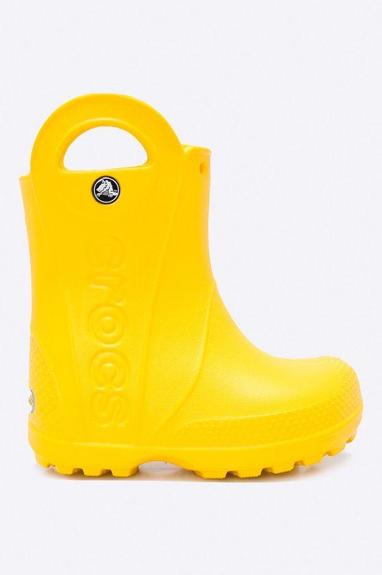żółty Crocs - Kalosze dziecięce Handle Rain Dziecięcy