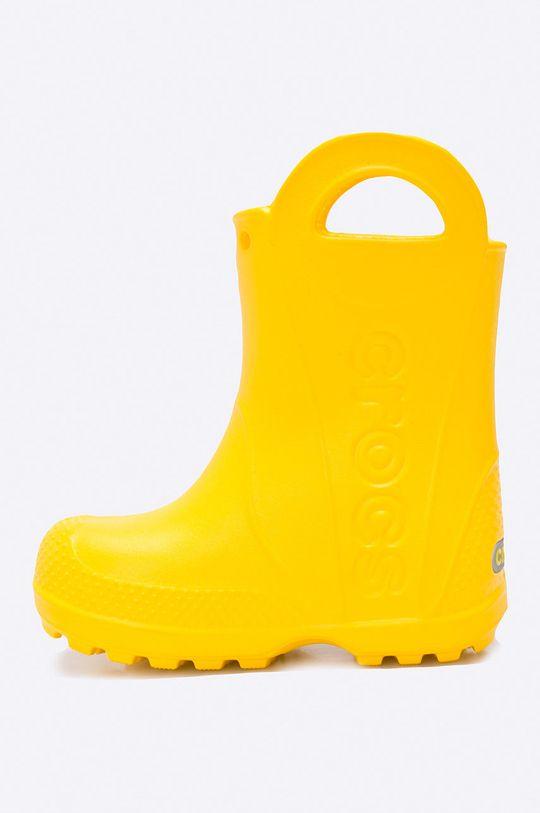 Crocs - Kalosze dziecięce Handle Rain Materiał syntetyczny