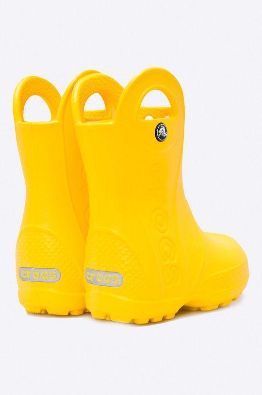 żółty Crocs - Kalosze dziecięce Handle Rain