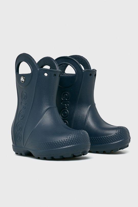 Crocs - Дитячі гумові чоботи темно-синій
