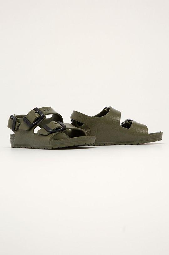 Birkenstock - Dětské sandály Milano tmavě zelená