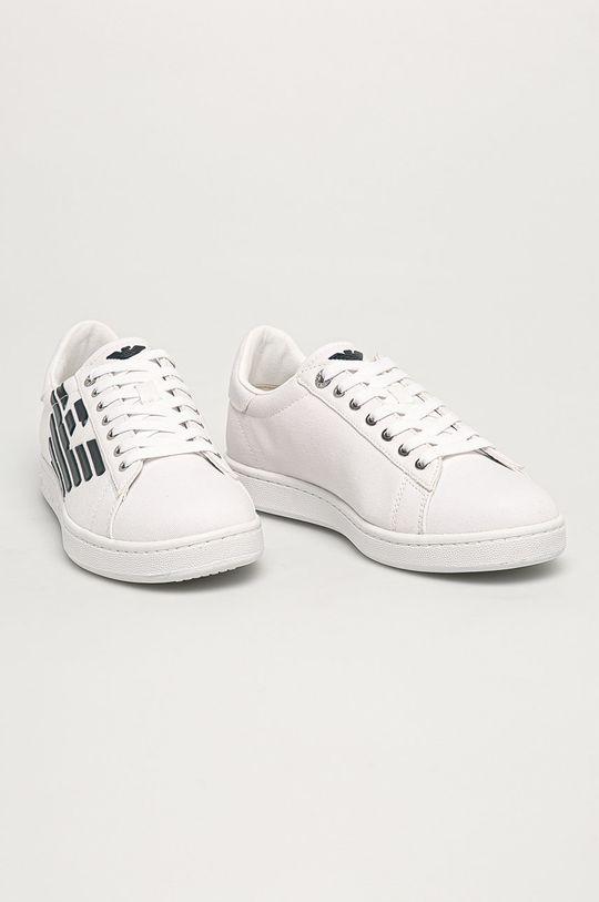 EA7 Emporio Armani - Topánky biela