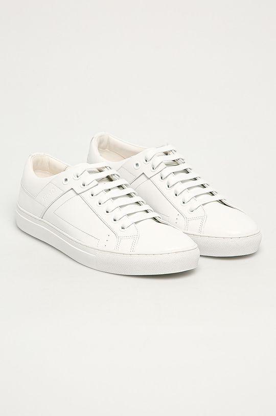 Hugo - Buty skórzane biały
