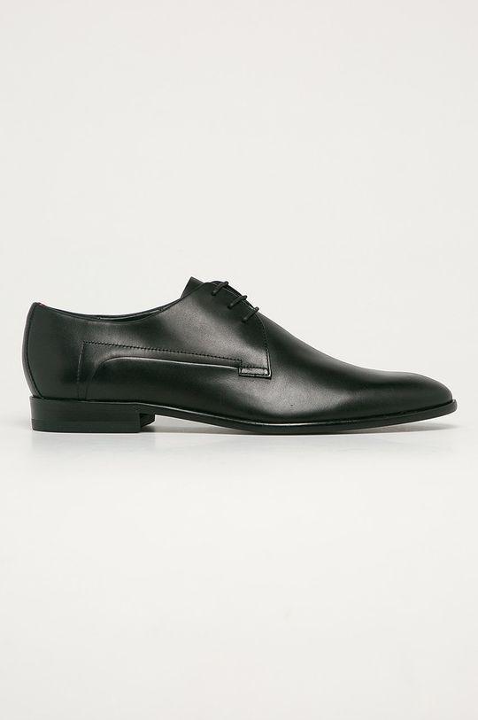 negru Hugo - Pantofi de piele De bărbați