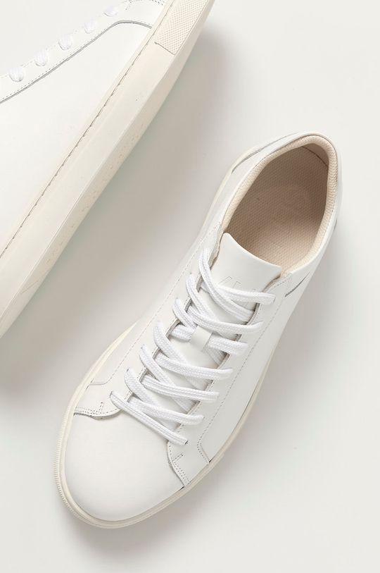 biały Selected - Buty skórzane