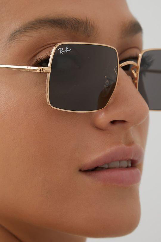 Ray-Ban - Okulary RECTANGLE złoty