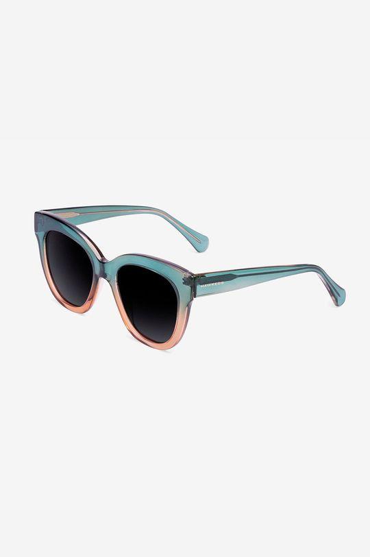 ciemny zielony Hawkers - Okulary przeciwsłoneczne GREEN CHAMPAGNE AUDREY Damski