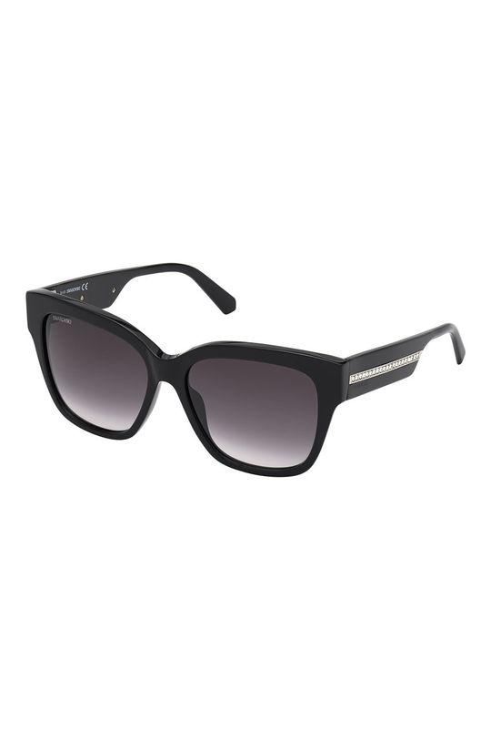czarny Swarovski - Okulary przeciwsłoneczne Damski