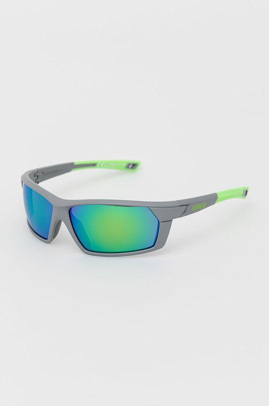 ostry zielony Uvex - Okulary przeciwsłoneczne Sportstyle 225 Unisex