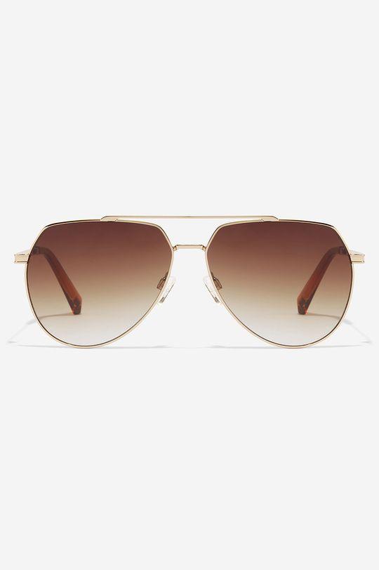 Hawkers - Okulary przeciwsłoneczne SHADOW - BROWN złoty brąz