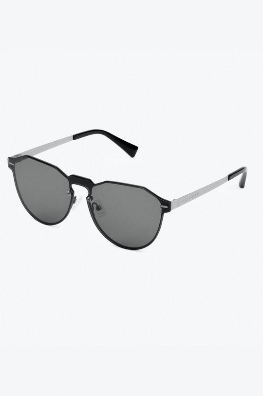 czarny Hawkers - Okulary przeciwsłoneczne Gun Metal Dark Warwick Unisex