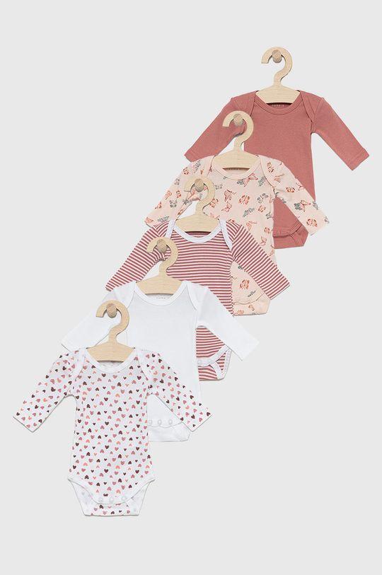 roz rosu Name it - Body bebe (5-pack) De fete