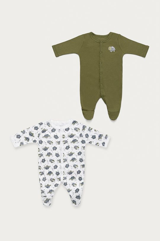 zielony Name it - Śpioszki niemowlęce 50-98 cm (2-pack) Dziecięcy