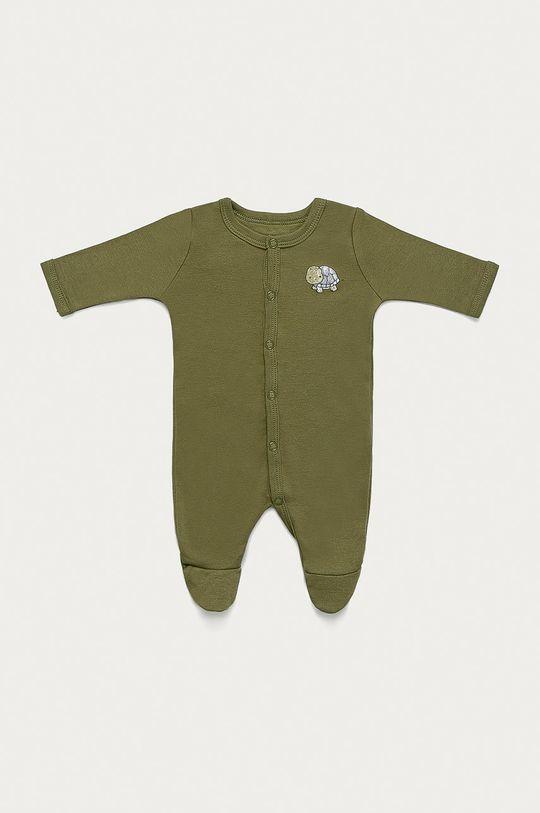 Name it - Śpioszki niemowlęce 50-98 cm (2-pack) zielony