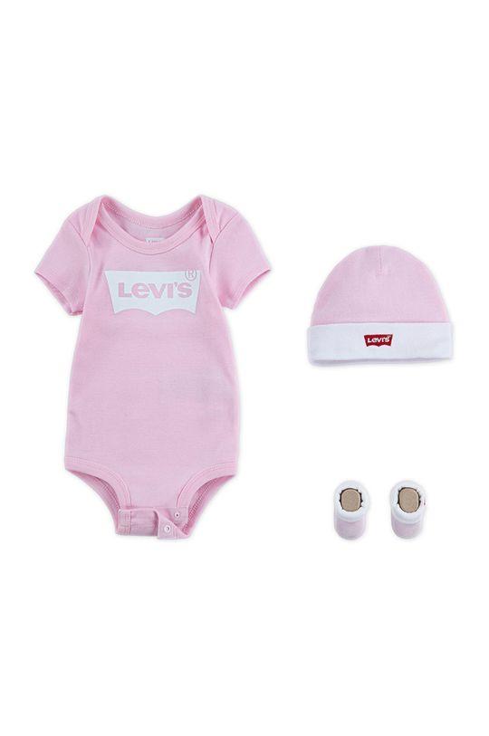 różowy Levi's - Komplet niemowlęcy Dziecięcy