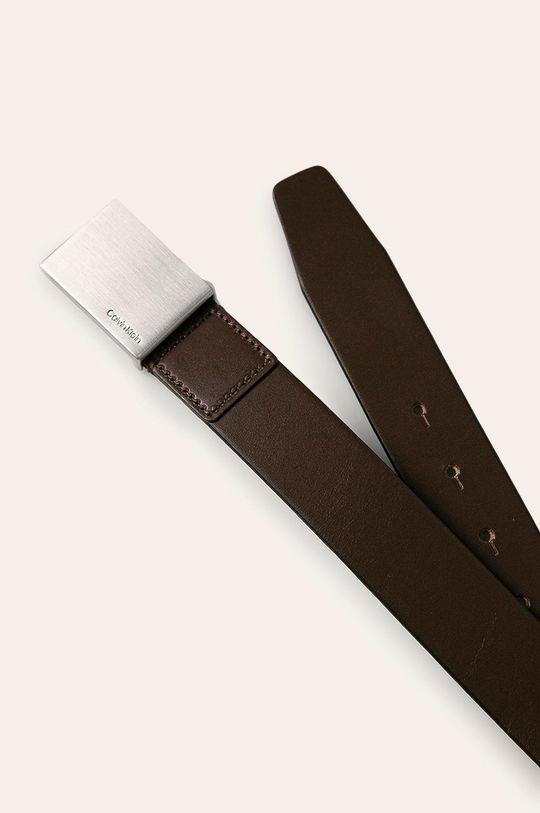 Calvin Klein - Kožený pásek hnědá